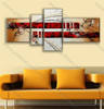 split panel painting Red Color