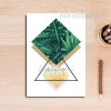 Abstract Refreshing Green Leaves Circle Geometric Print