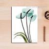 Transparent Bird of Paradise Floral Wall Art