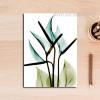 Transparent Arum Lily Floral Canvas Print