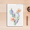 Refreshing Cactus Plant Canvas Art