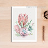 Refreshing Red Pink Peony Floral Art
