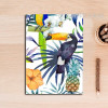 Colorful Leaves Flowers Toucan Bird Art