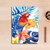Colorful Leaves Parrot Bird Art
