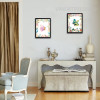 Beautiful Butterfly Leaves and Flowers Modern Wall Art