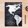 Black and White Pattern Map of the World