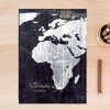 Map of the World Black and White Wall Art