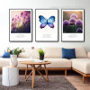 Purple Lavender Flower and Butterfly Canvas Prints