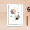 Geometric Pattern Hexagons Abstract Art