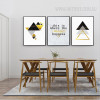 Geometric Triangles This Is Where The Magic Happens Words Canvas Prints