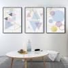 Geometric Pattern Colorful Triangles Hexagons Canvas Prints