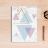 Geometric Pattern Colorful Triangles Canvas Print
