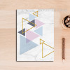 Geometric Pattern Colorful Triangles Canvas Wall Art