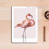 Modern Pink Flamingo Bird Canvas Print