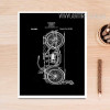 Black and White Drawings Bike Design Canvas Print