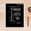 Black and White Drawings Guitar Design Canvas Wall Art