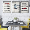 Old Times Classic Cars Vintage Posters Canvas Prints