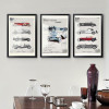 Old Times Classic Cars Vintage Posters Prints