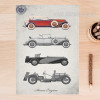 Old Times Classic Cars Vintage Poster Canvas Print