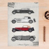 Old Times Classic Cars Vintage Poster Wall Art