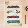 Old Times Classic Cars Vintage Poster Print