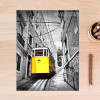 Yellow Tram Vintage Poster Print