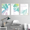 Creative Fresh Leaf Canvas Paintings Watercolor Prints