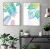 Watercolor Fresh Leaf Canvas Painting Prints