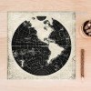 Vintage World Map Black and White