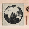 World Map Black and White Canvas Art
