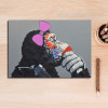Cool Female Orangutan Animal Wall Art