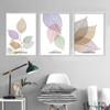 Transparent Beautiful Leaves Large Canvas Art