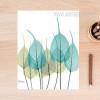 Blue Green Leaves Digital Art