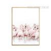 Pink Flamingo Bird Canvas Art