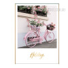Pink Cycle Holidays Word Wall Art