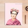 Frida Kahlo Figure Vintage Poster Canvas Print