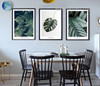 Green Tropical Plants 3 Piece Canvas Prints