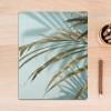 Tropical Green Long Leaves Canvas Print