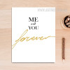 Me and You Forever Words Canvas Print
