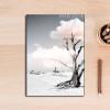 Tree in Desert Canvas Print