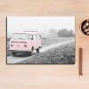 Pink Vintage Van Canvas Print