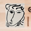 Black and White Woman Face Canvas Print