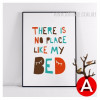 There is No Place Like Bed Nordic Nursery Wall Decor