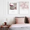 Reflection Pink Flamingo Bird Words Bubbles Bedroom Decor Wall Artwork