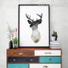 Minimalist Geometric Deer Animal Art