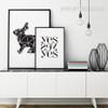Minimalist Geometric Rabbit Animal Yes Words Art