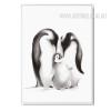 Black and White Penguin Family Digital Print