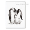 Black and White Penguin Family Digital Print