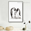 Black and White Penguin Family Digital Art