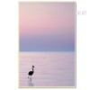 Flamingo Bird Sunset Landscape Art